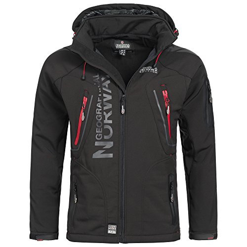 Geographical Norway Espoo Herren Softshell Jacke Schwarz Gr. XL