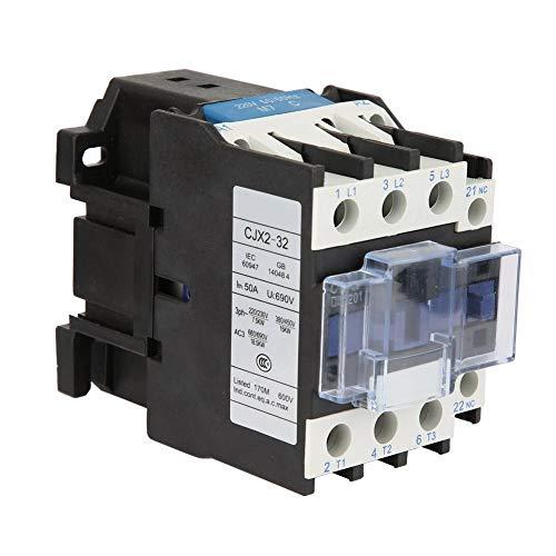 Volt Spule (Riuty Empfindliches industrielles elektrisches Wechselstrom-Schütz, 32A CJX2-3201 Platten-Frontverdrahtungs-Volt-Spulen-Schütz für 220 V industrielles elektrisches Schütz für Leistungsanwendungen)