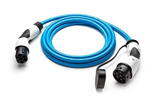 Typ 2 Ladekabel für Elektroauto (Mode 3) | 22 kW 32A 3-phasig | mit Typ 2 Ladestecker & Kupplung (BALS) | 8 Meter Länge, blau | für alle Typ2 Elektroautos