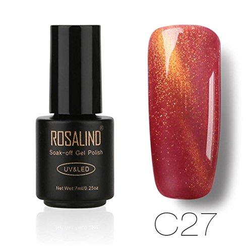 samLIKE Nagellack, ROSALIND 7 ML Gel Nagellack Nail art Gelpoliermittel UV LED Gelpoliermittel Semi Permanent Lack (G) (Essie-licht Uv-lampe)