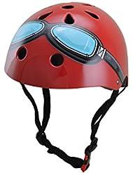 Roter Goggle Kiddimoto Helm