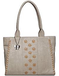 Butterflies Women Hand Bag (Cream) (BNS 0617CRM)