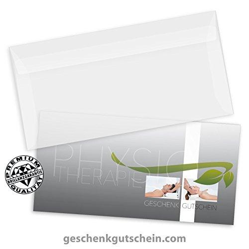 25 Stk. Premium Faltgutscheine Multicolor + 25 Stk. Kuverts für die Physiotherapie MA249, LIEFERZEIT 2 bis 4 Werktage !