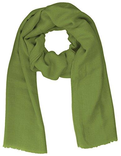 Lovely Lauri Schal Basic Tuch einfarbig unifarben uni Übergangszeit weich lang Oliv grün