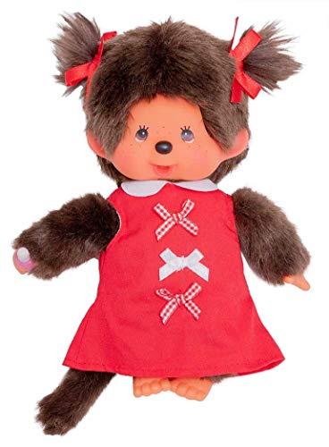 Preisvergleich Produktbild Monchichi 20 cm Mädchen Red Ribbon Dress