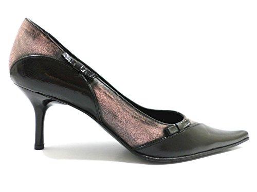 scarpe donna LUCIANO PADOVAN 37 EU decolte nero rosa pelle ZW53