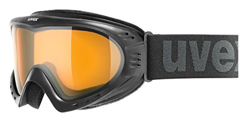 Uvex Maschera Cevron, Unisex adulto, Skibrille Cevron, Nero, taglia unica