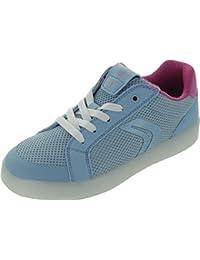 Geox j824ha_skyfuc, Baskets Mode pour Fille Bleu Bleu - Bleu - Bleu, 40 EU