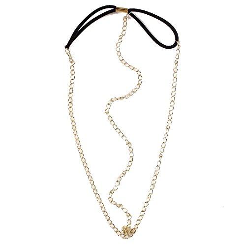 QIYUN.Z Frauen Fascinator 18K Goldkette Summer Beach Boho Stirnband-Haar Stirnband Haargummis Haarklammern Haarkrallen Spinnen Haarspangen Clips