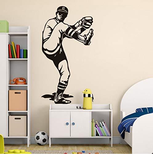 Kreative baseball krug sportler vinyl wandaufkleber wohnkultur wohnzimmer abnehmbare diy kunst wandtattoo -