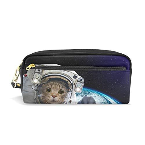 Federmäppchen Astronaut Cat Student Stationery Pen Federmäppchen Holder Bag for School Office Storage Organizer