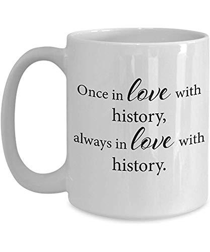Regalos de la taza para los amantes de la historia - Regalos de la historia para él, ella, papá, mamá, hombres, mujeres, novio, novia - Ideas únicas para cumpleaños, Navidad - Taza de café