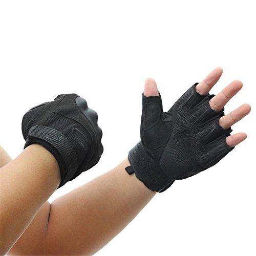 HomJo Oven Gloves Outdoor-Handschuhe Half-finger taktischen Schutz Reiten Übung Training Kampf militärischen Fans Spezialkräfte Handschuhe , L , 2