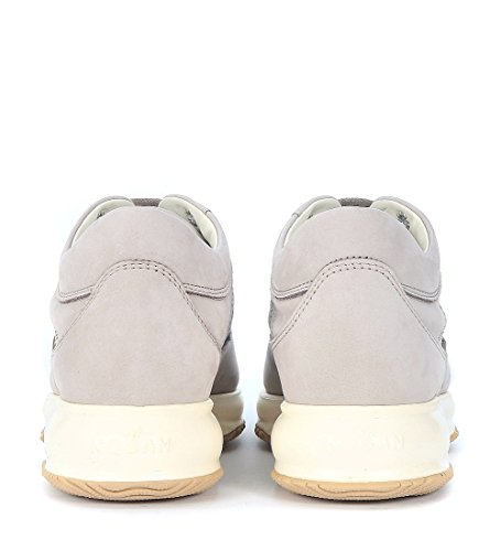 Sneaker Hogan Interactive in nabuk grigio sasso Grigio