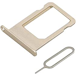 MMOBIEL Tiroir Carte SIM de Rechange Compatible avec Les iPhone 5S / Se 4.0 inch (Or) INCL Sim pin
