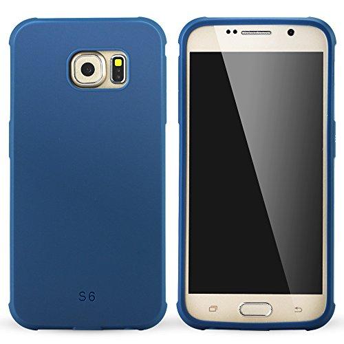 Galaxy S6 Coque,Lizimandu Tpu Silicone Gel Étui Housse Protection Shell Cover Case Pour Samsung Galaxy S6(Bleu/Blue) Bleu/Blue