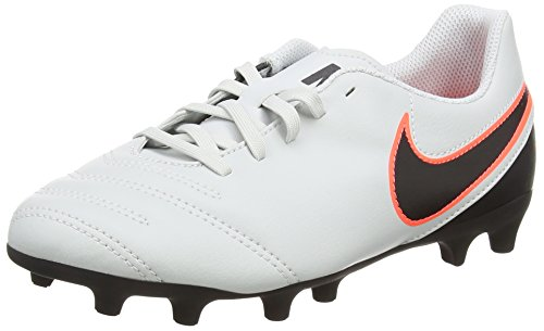 Nike Unisex-Kinder Tiempo Rio Iii Fg Fußballschuhe Weiß (Pure Platinum/Black-Hypr Orng 001) 8NQ0pcBML7