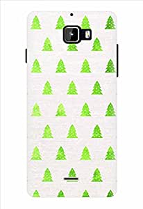 Noise Green Trees Printed Cover for Micromax Canvas Nitro A311