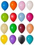 100 Luftballons in Pastellfarben Buntmix 12