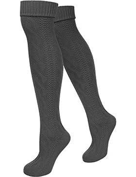 LANGE Trachtensocken Trachtenstrümpfe Zopf Socken meliert