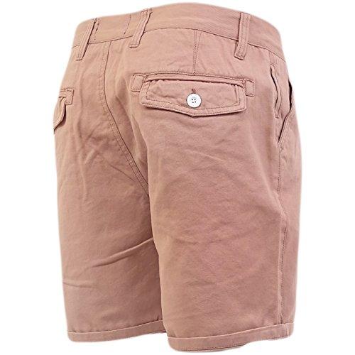 Herren Chino Shorts Von Brave Soul Baumwolltwill Lachsfarben