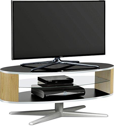 MDA Designs órbita 1100bo elíptica de roble soporte de TV Negro Brillante con lados para televisores de pantalla plana de hasta 55'