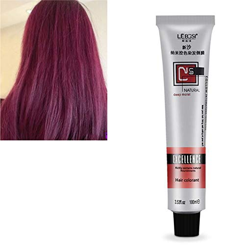 Fishyu 1 Pcs Hair Tint Colorant Semi Permanent Long Lasing Hair Cream Color Dye PaintBeauty Make-up