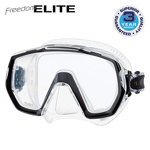 Tusa Freedom Elite - tauchmaske schnorchelmaske erwachsene profi M-1003 - schwarz silikon transparent