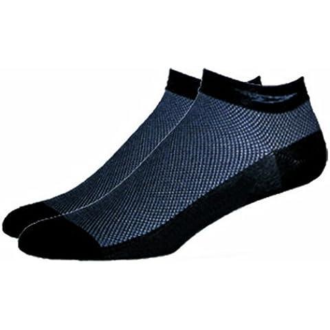 DeFeet-Calzini SpeeDe, motivo: Logo Coolmax a D sottile, colore: nero, nero