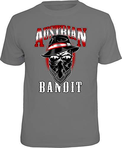 Herren T-Shirt - Österreich - Austrian Bandit - mehrere Farben (Grau, L)