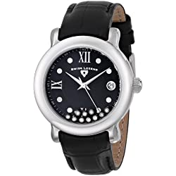 SWISS LEGEND 22388-01 - Reloj para mujeres, correa de cuero color negro