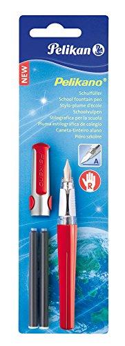 Preisvergleich Produktbild Pelikan 971226 - Pelikano Füllhalter P480, Feder: A, inklusive 2 Tintenpatronen Gtp/B, Schaftfarbe: rot