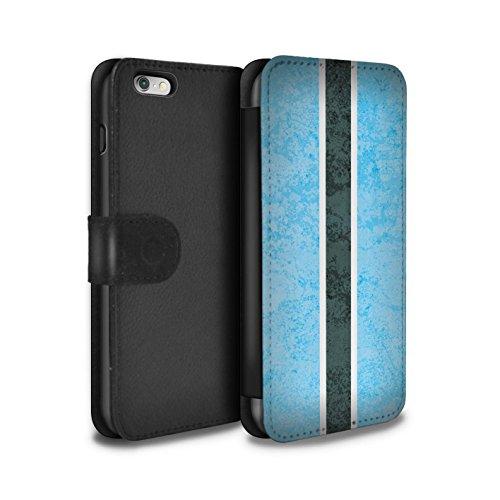 STUFF4 PU-Leder Hülle/Case/Tasche/Cover für Apple iPhone 6 / Südafrika Muster / Afrika Flagge Kollektion Botswana/Botswanan