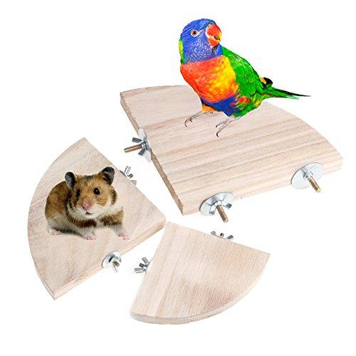 Jiamins 3.94in Haustier-Papageien-Holz-Plattform-Stand-Rack-Spielzeug-Hamster-Niederlassung hockt für Den Vogel-Käfig Neu (Den Stand Käfig Vogel Für)