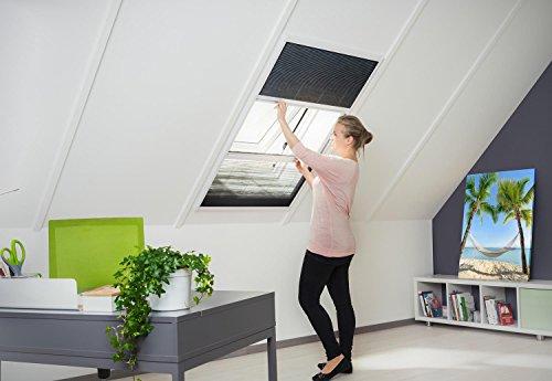 Kombi Dachfenster Plissee Sonnenschutz Fliegengitter Alurahmen 110 x 160 cm