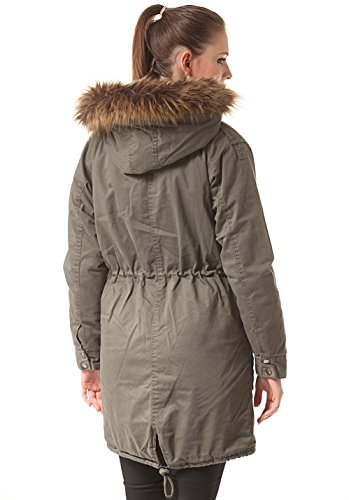 Minimum Naomi Fake Fur W parka Olive