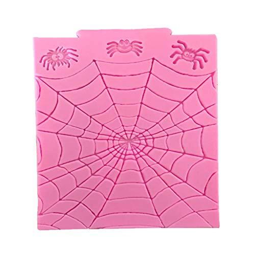 Halloween Zubehör Hausgemachte - WDTong Halloween Spinnennetz Silikonformen Für Candy-Pan
