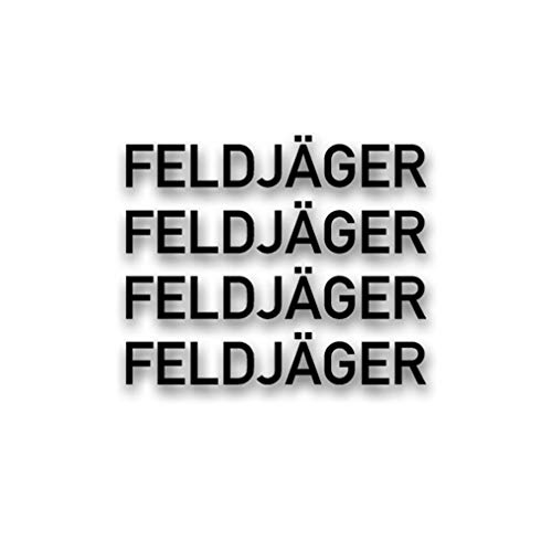 Aufkleber/Sticker Feldjäger Schriftzug Militär Polizei MP BW 4X 2x14cm A2890 -