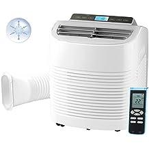 Carlo Milano Monoblock Klimaanlagen: Mobile Design-Klimaanlage mit Entfeuchter, 9.000 BTU/h, 2.600 Watt (Kompakt-Klimaanlage)