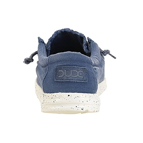 Dude Shoes Wally Masculine Lavés en Acier Bleu Bleu