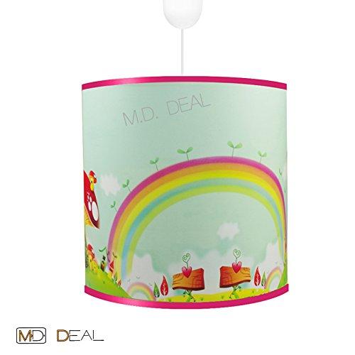 Kinderzimmer Jungen Deckenleuchte Hängelampe - REGENBOGEN - Leuchte Lampe Decke 6Watt LED kaltweiß E27