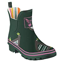 Ladies Evercreatures Wellies Meadow Pattern Design Wellington Ankle Boots