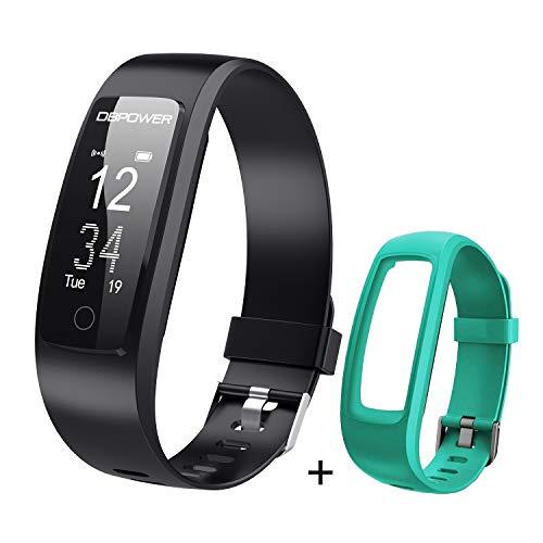 DBPOWER Fitness Tracker, Tracker attività, Orologio Fitness con Monitor Sonno e Frequenza Cardiaca, Cinturino Smart Protezione IP67 con Pedometro, Localizzatore GPS, per Smartphone Android/iOS