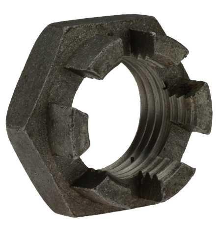 Reidl Kronenmuttern niedrige Form M 24 x 1,5 mm DIN 937 14 H blank 1 Stück