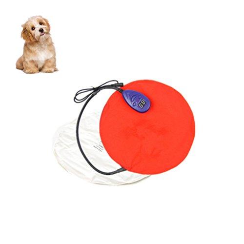 Petacc Heizmatte Hund Heizdecke Hund Katze Wärmematte für Hund/Katzen Sicherheit (30*30cm, Rot)
