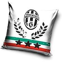Juventus Turin Funda de cojín, algodón, Blanco, 40x 20x 1cm