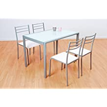 Conjunto de mesa y 4 sillas