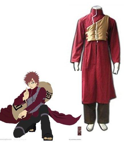 SUNKEE Japonés Anime Naruto Vol 2 Cosplay - Gaara cosplay traje Roja ,  tamaño L ( 29398141ca4