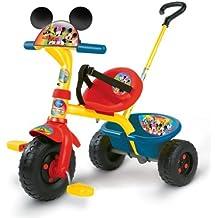 Smoby - Triciclo con mango con diseño de Mickey (444131)