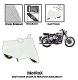 #6: AutoBurN Royal-Enfield Classic 350 Bike Accessories - Waterproof Bike Body Cover with Mirror Pockets (Belt-Buckle, Full Piping, Waterproof)
